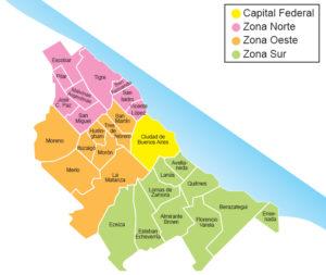 Mapa Zonas GSA